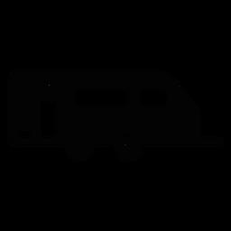 Icono plano de remolque de caravana