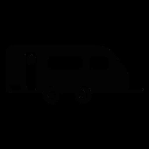 Caravan Trailer Flat Icon Transparent PNG