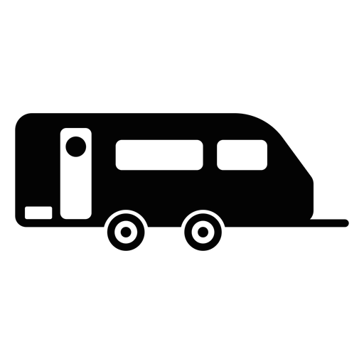 Caravana remolque plano icono Transparent PNG