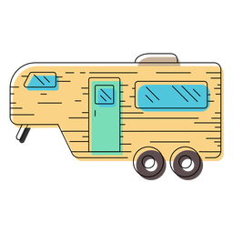Caravan trailer illustration