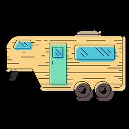 Ilustração de reboque de caravana