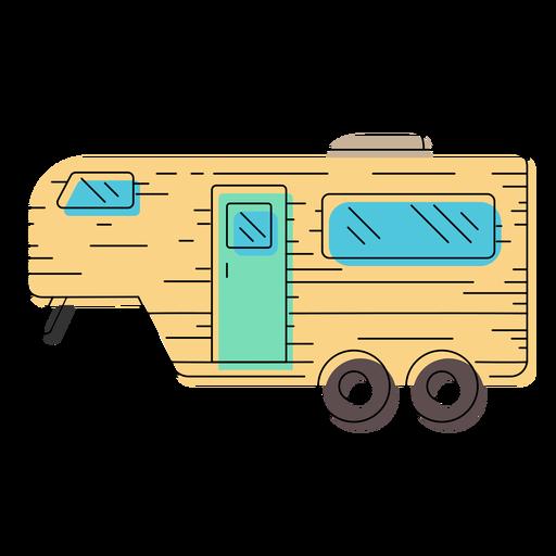Caravan trailer illustration Transparent PNG