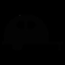Ícone plano do veículo caravana