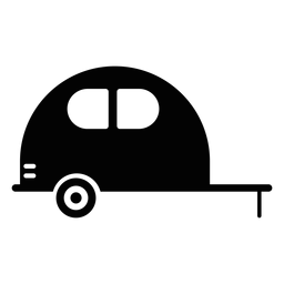 Icono plano de vehículo de caravana