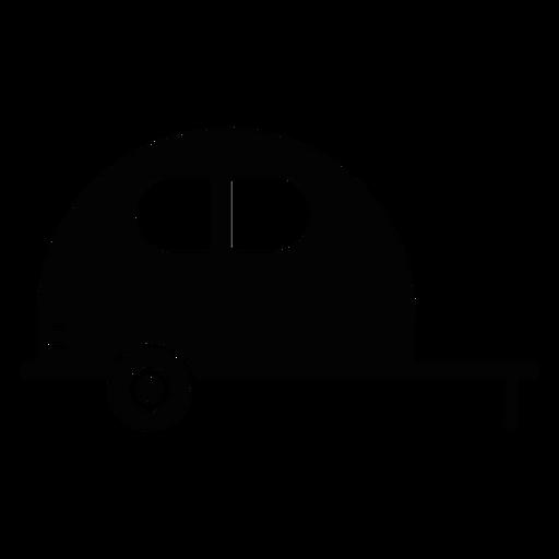 Caravan vehicle flat icon