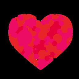 Círculo lleno corazón pegatina