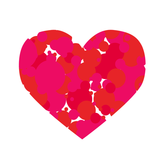 Circle filled heart sticker Transparent PNG
