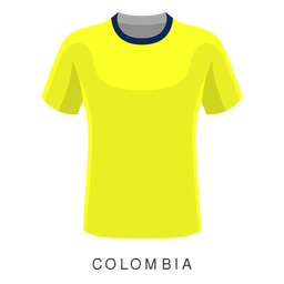 Dibujos animados de camisa de fútbol de copa mundial de Colombia