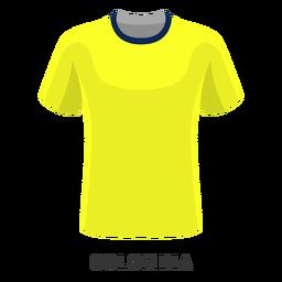 Dibujos animados de camiseta de fútbol de la copa mundial de colombia