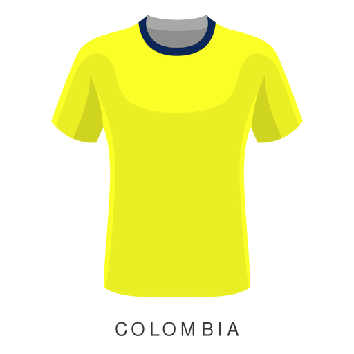 Colombia copa mundial de fútbol camiseta de dibujos animados Transparent PNG