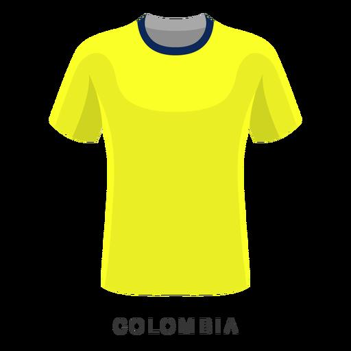 Desenhos animados da camisa do futebol do campeonato do mundo de Colômbia Transparent PNG