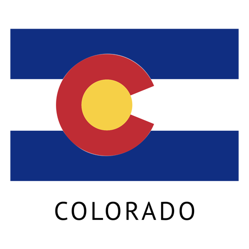 Colorado state flag Transparent PNG