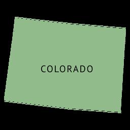 Colorado state plain map