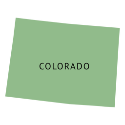 Mapa plano del estado de Colorado