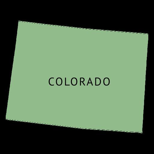 Mapa plano del estado de Colorado