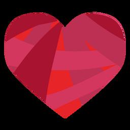 Etiqueta engomada colorida del corazón