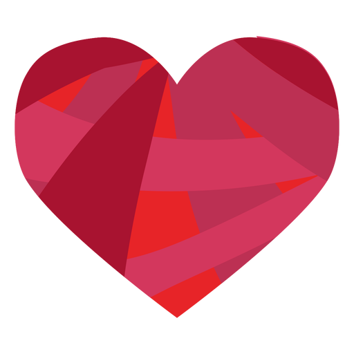 Colorful heart sticker Transparent PNG