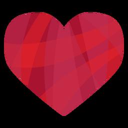 Adesivo de coração listrado colorido