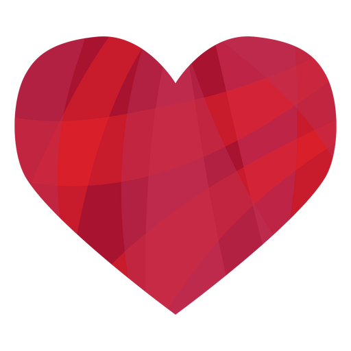Colorful striped heart sticker Transparent PNG