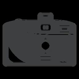 Icono de cámara compacta gris
