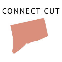 Connecticut state plain map