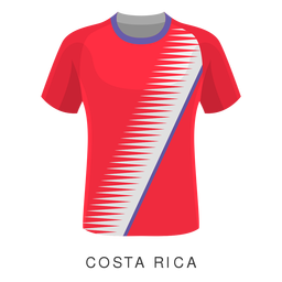 Costa rica world cup football shirt cartoon