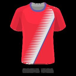 Dibujos animados de camiseta de fútbol de la copa mundial de costa rica