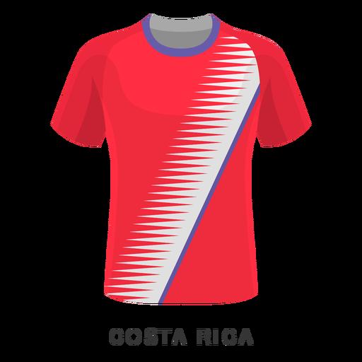 Desenhos animados da camisa do futebol do copo de mundo de Costa-Rica Transparent PNG