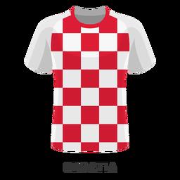 Dibujos animados de camiseta de fútbol de la copa mundial de croacia