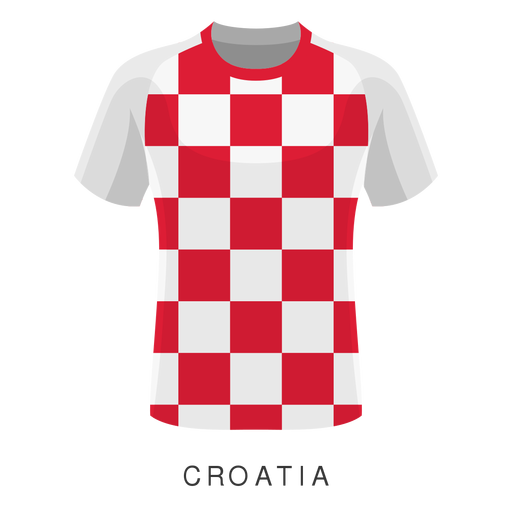 Croatia world cup football shirt cartoon Transparent PNG