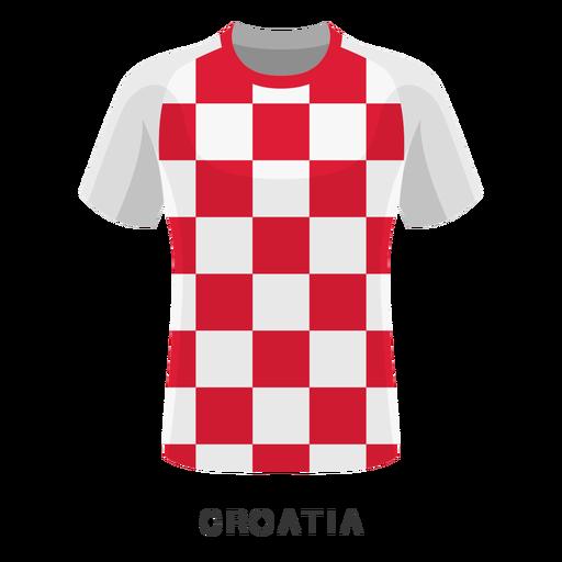 Desenhos animados de camisa de futebol Copa do mundo de Croácia Transparent PNG