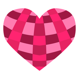 Crossed stripes heart sticker