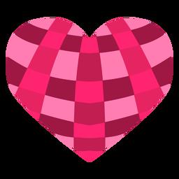 Listras cruzadas adesivo coração