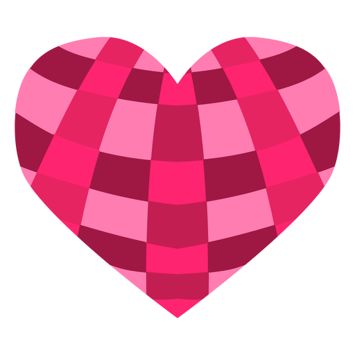 Crossed stripes heart sticker Transparent PNG