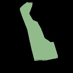 Mapa plano do estado de Delaware