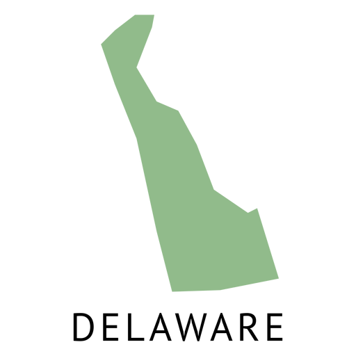 Delaware state plain map Transparent PNG