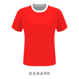 Denmark world cup football shirt cartoon