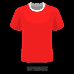 Dibujos animados de camiseta de fútbol de la copa mundial de Dinamarca