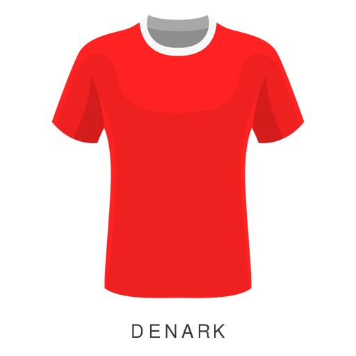 Denmark world cup football shirt cartoon Transparent PNG