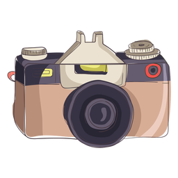 Dibujos animados cámara digital