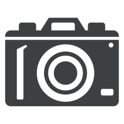 Digital camera grey icon