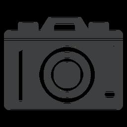 Icono de cámara digital gris