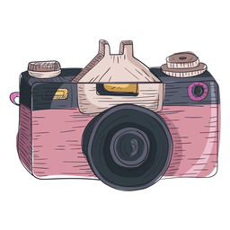 Icono de boceto de cámara digital