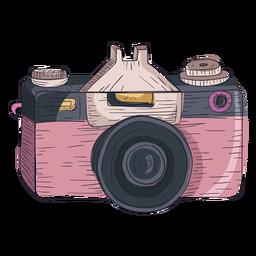 Icono de esbozo de cámara digital
