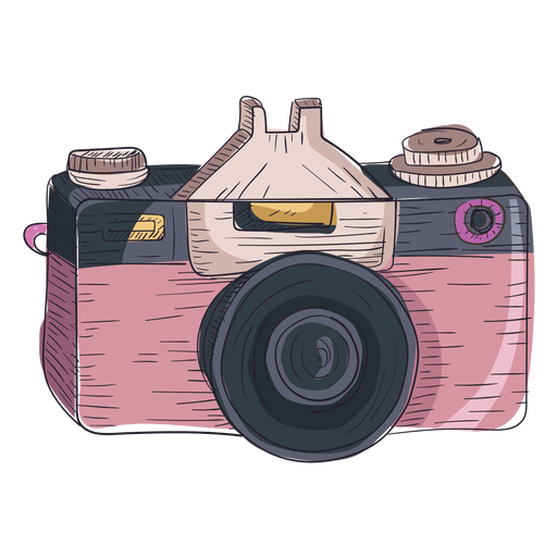 Digital camera sketch icon Transparent PNG