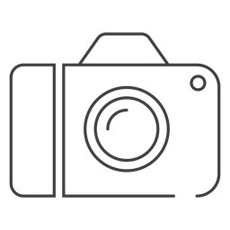 Digital camera stroke icon