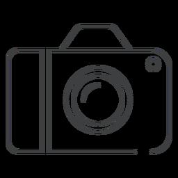Icono de trazo de cámara digital
