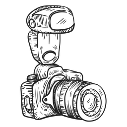 Bosquejo de cámara de fotos digital