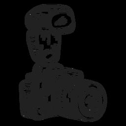 Esboço da câmera fotográfica digital