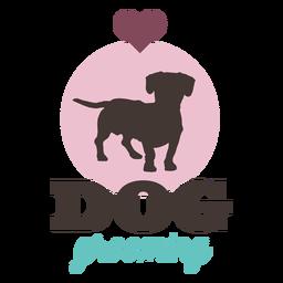 Logotipo del corazón de la preparación del perro